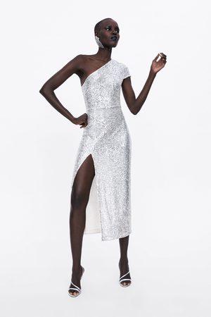 Zara Robe à paillettes asymétriques