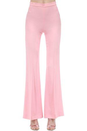 MARIANNA SENCHINA Pantalon Évasé En Crêpe De Viscose Taille Haute
