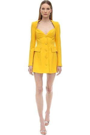 a4db13d6d6b MARIANNA SENCHINA Femme Robes bustier - Viscose Crepe Bustier Jacket Dress.  JAUNE
