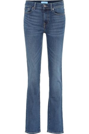 7 for all Mankind Jean droit B(AIR) à taille haute