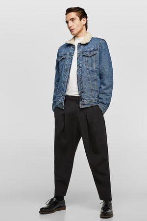 Zara Veste bimatière en jean
