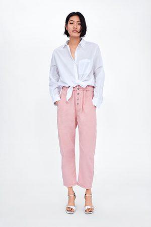 Zara Pantalon baggy à boutons