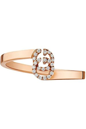 Gucci Bague GG en or ornée de diamants