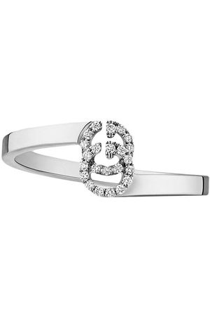 Gucci Bague GG Running en or blanc ornée de diamants