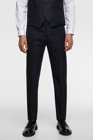 Zara Pantalon de costume à carreaux