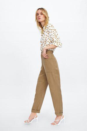 Zara Pantalon baggy à poches