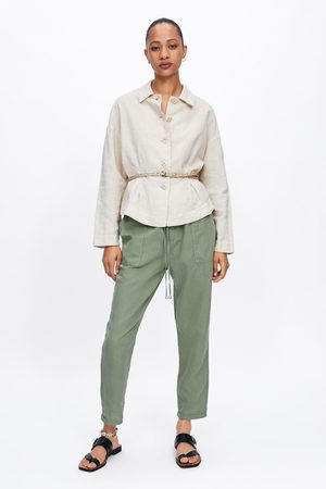 Zara Blouson à plis avec ceinture