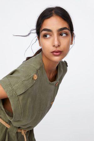 Zara Robe en lin avec ceinture