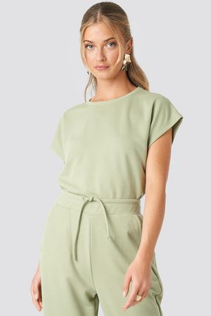 NA-KD Basic Slip Top - Green