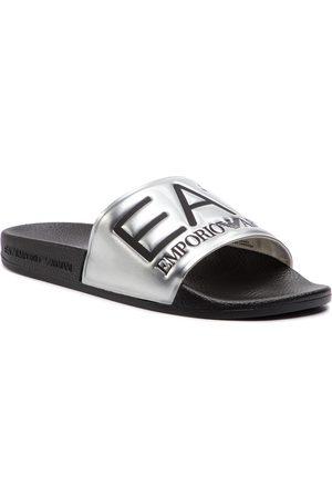 EA7 Mules / sandales de bain - XCP001 XCC22 A854 Shiny Silver/Black