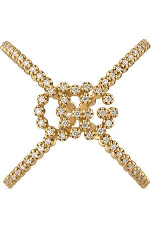 Gucci Montres - Bague croisée GG Running avec diamant