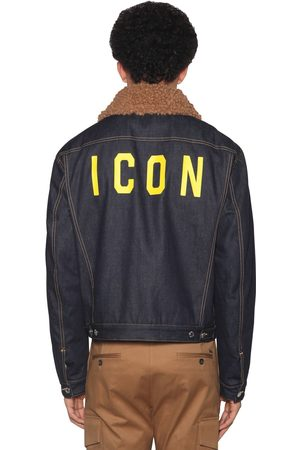 "Dsquared2 Veste En Patchwork De Denim De Coton ""icon"""