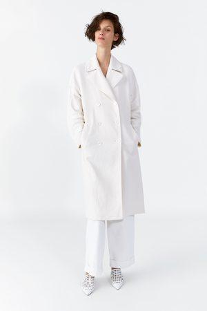 Zara Femme Manteaux longs - Manteau long croisé