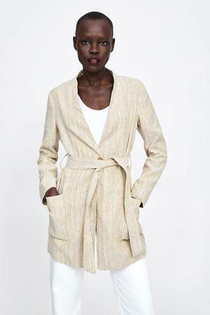 Zara Striped rustic coat