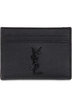Saint Laurent Porte-cartes En Cuir Grainé