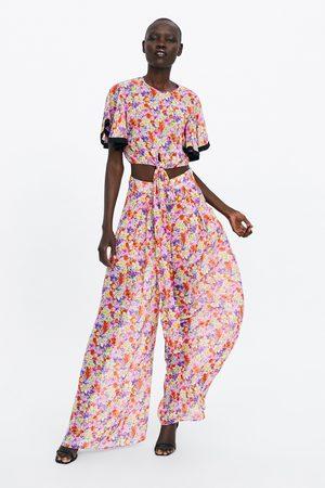 Zara Pantalon ample imprimé