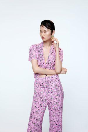 Zara Pantalon flare imprimé