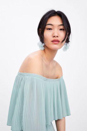 Zara Robe plissée à manches cape