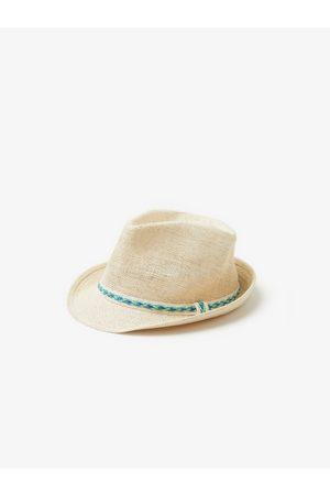 Zara Chapeau de paille avec ruban tressé