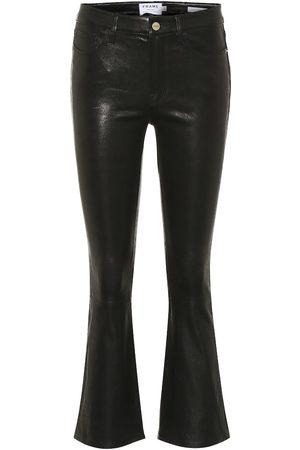 Frame Pantalon Le Crop Mini Boot raccourci en cuir