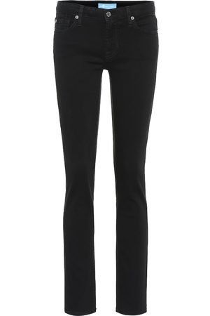 7 for all Mankind Jean slim Pyper raccourci à taille mi-haute