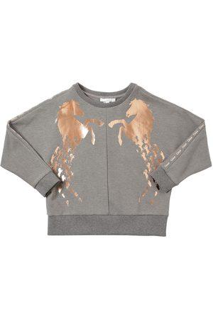 Chloé Sweat-shirt En Coton Mélangé Imprimé Chevaux