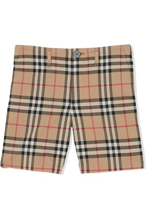 Burberry Garçon Shorts - Signature check print shorts