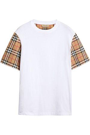 Burberry T-shirt à manches à carreaux
