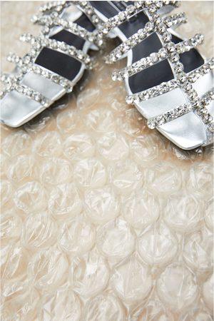 Zara Flat bejewelled sandals