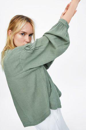 Zara Veste en lin à boutons
