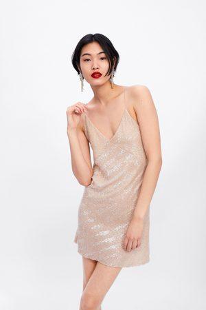 Zara Femme Robes - Robe mini à paillettes