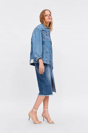 Zara Jupe tube en jean