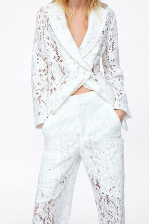 Zara Pantalon à poches dentelle