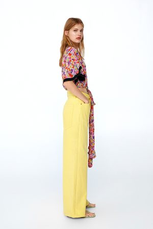 Zara Jean ze premium vintagehigh waist citron