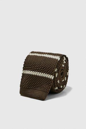 Zara Cravate en maille à rayures