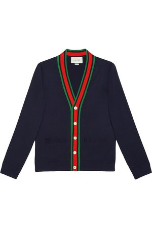 Gucci Cardigan à bordure Web