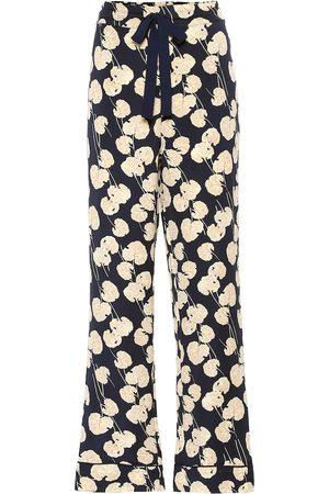 Diane von Furstenberg Pantalon ample Veronica en soie mélangée