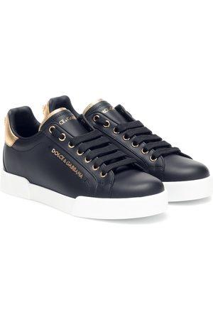 Dolce & Gabbana Baskets Portofino en cuir