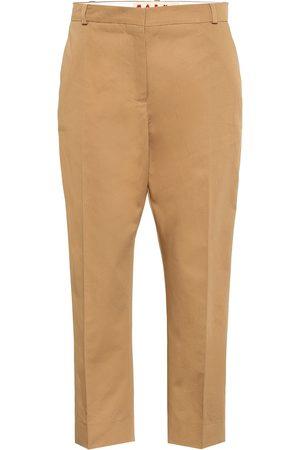Marni Pantalon raccourci en coton et lin