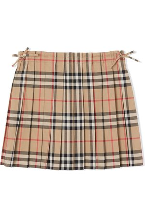 Burberry Fille Jupes plissées - Vintage Check Pleated Skirt