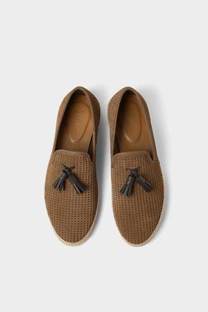 Zara Chaussures en cuir avec semelle en jute