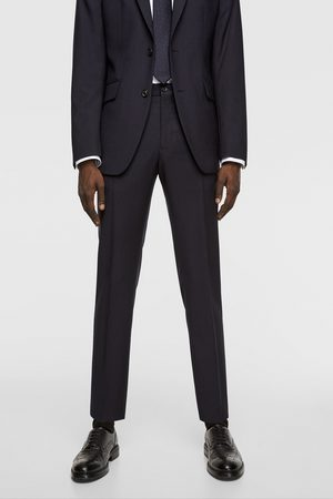 Zara Pantalon en laine structuré