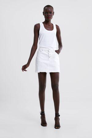 Zara Mini jupe en jean déchirée