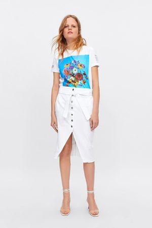 Zara Jupe en jean à boutons