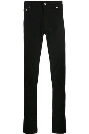 Alexander McQueen Jean slim à logo brodé