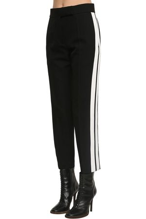 Haider Ackermann Pantalon Droit En Crêpe De Laine Taille Haute