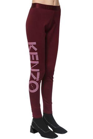 Kenzo Legging En Coton Stretch À Imprimé Logo