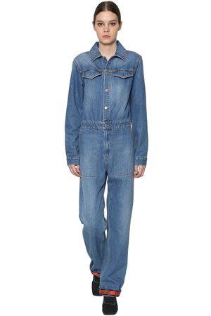 Kenzo Combi-pantalon En Denim De Coton Manches Longues