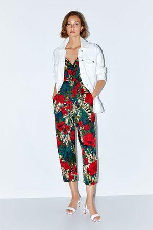 Zara Combinaison à imprimé tropical