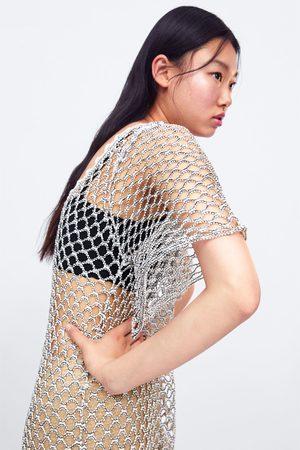 Zara Tunique à maille structurée brillante